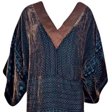 Load image into Gallery viewer, BCBGMAXAZRIA Dress BCBG Kimono Velvet Brown Mini Minidress Max Azria Size Small