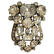 Load image into Gallery viewer, Eisenberg Original Jewellery Fur Clip Signed 30s 40s Prong Bezel Swarovski