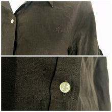 Load image into Gallery viewer, Ralph Lauren Top Linen Shirt Brown Button Down New Buttons Roll Tab Size Medium
