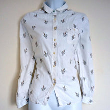 Load image into Gallery viewer, Paul Smith Shirt Button Up White Dotted Floral Size Medium