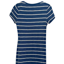 Load image into Gallery viewer, Ralph Lauren Dress Stripes Blue Nautical Laces Striped New Size Medium