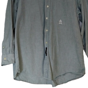 Tommy Hilfiger Shirt Mens Grey Men Button Down Size Large