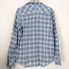 Load image into Gallery viewer, Diesel Shirt Men Button Up Blue Mens Check Checked Size Large