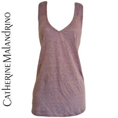 Linen Vest Top New Catherine Malandrino Sleeveless Blouse Unworn Size Medium