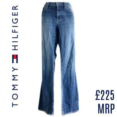 Tommy Hilfiger Jeans Flare Denim Boyfriend Relaxed Faded Size Small