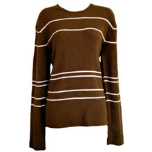 Load image into Gallery viewer, Armani Exchange Jumper Striped Stripes Ribbed Brown Size Large