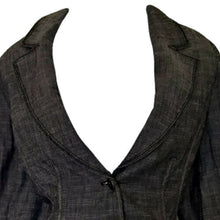 Load image into Gallery viewer, White House Black Market Blazer Jacket Linen Grey Two Button Size Medium