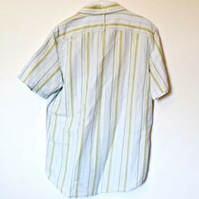 Load image into Gallery viewer, Striped Linen Shirt Button Up Men Banana Republic Stripes Mens Size Medium