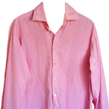 Load image into Gallery viewer, Ted Baker Shirt Pink Men Patterned Mens Archive Button Up Formal Work Size Large