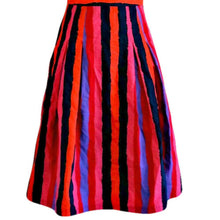 Load image into Gallery viewer, LK Bennett Dress Striped Stripes Knee Length Bold Colourful Sleeveless Size XS