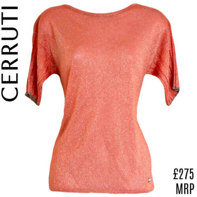 Cerruti Sparkle Top Sparkly Glitter Open Back Shimmer 1881 New Size Small