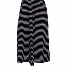Load image into Gallery viewer, Striped Midi Dress Vintage 90s Stripes Nautical Pockets Mididress Size Small