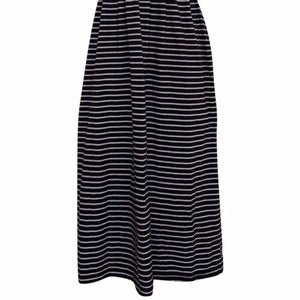 Striped Midi Dress Vintage 90s Stripes Nautical Pockets Mididress Size Small