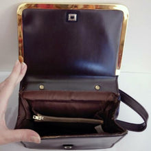 Load image into Gallery viewer, Vintage 60s Handbag Military Mod MacLaren Brown