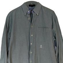 Load image into Gallery viewer, Tommy Hilfiger Shirt Mens Grey Men Button Down Size Large