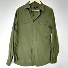 Load image into Gallery viewer, Banana Republic Shirt Men Green Button Up Buttons Roll Up Sleeves Size Medium