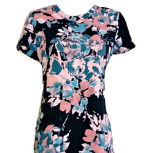 Load image into Gallery viewer, Blue Floral Dress Mini Shift Navy Pink Cynthia Rowley New Unworn Size Small