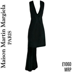 Maison Margiela Dress Top Waistcoat MM6 Combo Black Mini Designer Size Medium