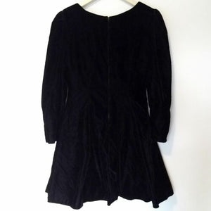 Velvet Dress Sweetheart Long Sleeve Full Party Cocktail Vintage 90s Size Medium