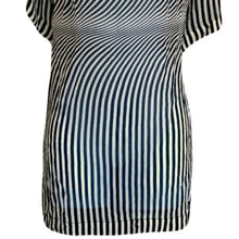 Load image into Gallery viewer, Gianfranco Ferre Top Silk Tunic Vintage 80s Op Art Retro Sheer Size Large
