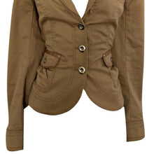 Load image into Gallery viewer, White House Black Market Jacket Tan Beige Silver Buttons Size Small