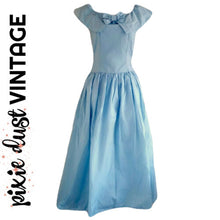 Load image into Gallery viewer, Vintage Dress Blue Cinderella Formal 80s Maxi Baby Periwinkle Size XS