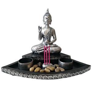 Buddha Incense Holder Buddhist Altar Meditation Candles Buddhism Stress Relief