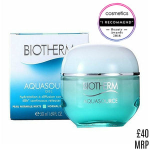 Biotherm Aquasource Gel 48 Hour Normal Combination Skin 50 ml Plankton