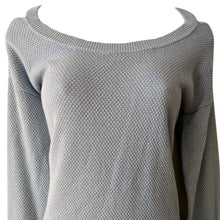 Load image into Gallery viewer, Michael Kors Jumper Sparkly Off Shoulder Cutout Blue Pastel Sparkle Size Small