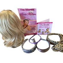 "Load image into Gallery viewer, Blonde Hair Extensions 9"" Blond Hairpiece Headband Piece Heat Safe Paris Hilton"