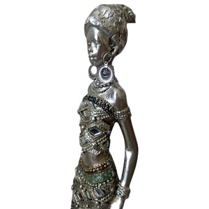 African Woman Statue Queen Goddess Masai Africa Art Large Tall Strong Feminism