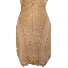 Load image into Gallery viewer, Bebe Dress Bodycon Lace Lacy Beige Strappy Blush Ivory Stretch Fitted Size Small