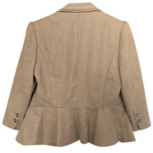 Load image into Gallery viewer, White House Black Market Suit Blazer Skirt Peplum Jacket WHBM Beige Size Small
