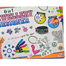 Load image into Gallery viewer, Jewellery Making Kit Girls Set Friend Kids Crafts Craft Beads Charms Paint Bands