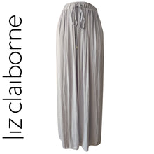 Load image into Gallery viewer, Grey Chiffon Skirt Maxi Maxiskirt Liz Claiborne Long Pleated Pleats Size Large