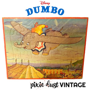 Antique Dumbo Puzzle Disney 1940s 1950s Vintage Kids Toy Toys 40s 50s Jaymar