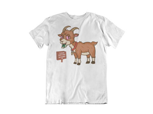 High Goat Tee in White (Pre-Order)