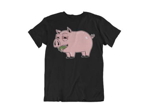 High Pig Tee in Black