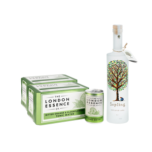 Sapling x London Essence | Bitter Orange & Elderflower Tonic Water 6 x 150ml (2 Cases)