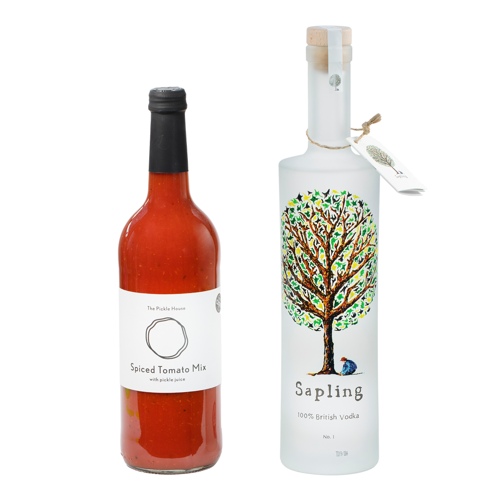 Sapling Vodka 70cl x The Pickle House Spiced Tomato Mix 75cl