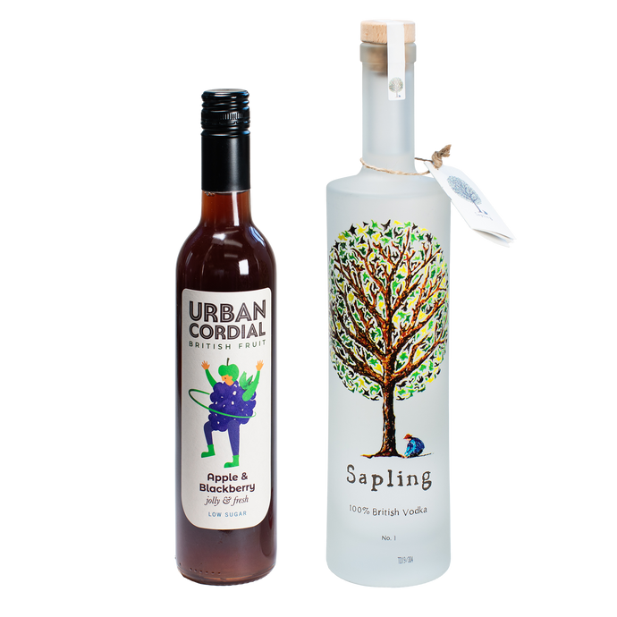 Sapling Vodka 70cl x Urban Cordial Apple and Blackberry 50cl