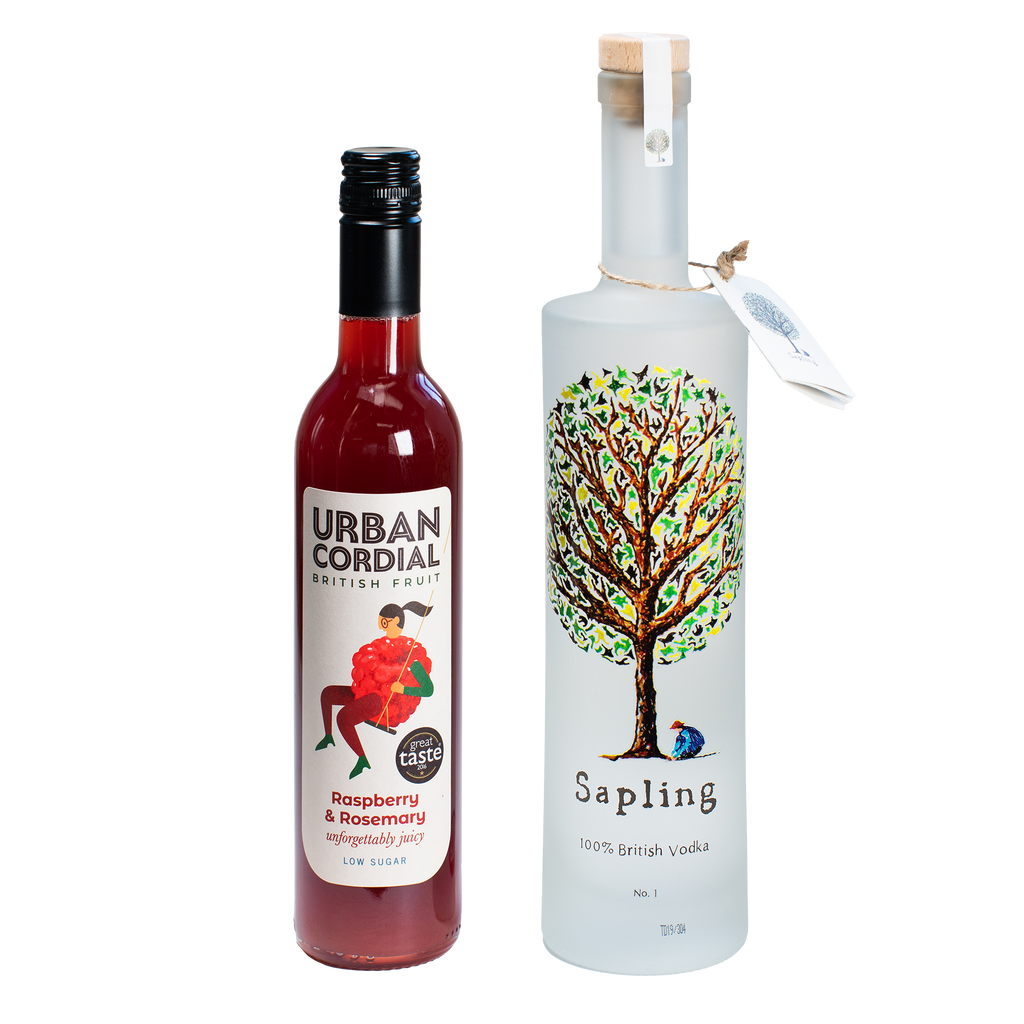 Sapling Vodka 70cl x Urban Cordial Raspberry & Rosemary 50cl