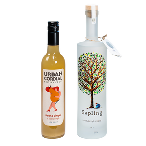 Sapling Vodka 70cl x Urban Pear & Ginger 50cl