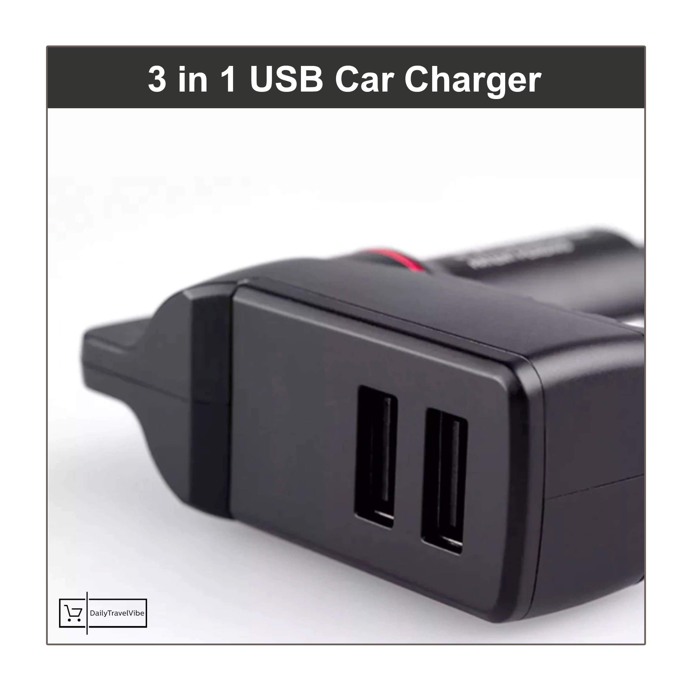 3 in 1 USB Car Charger