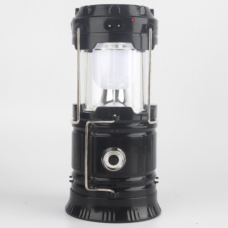 (50% OFF)3-in-1 Solar Energy Camping Lantern,Portable Outdoor LED Flame Lantern Flashlights(3 ways charging)