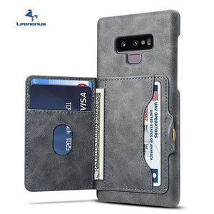 Card Slots Flip Wallet Case For Samsung Galaxy Note9 S9 S9 Plus