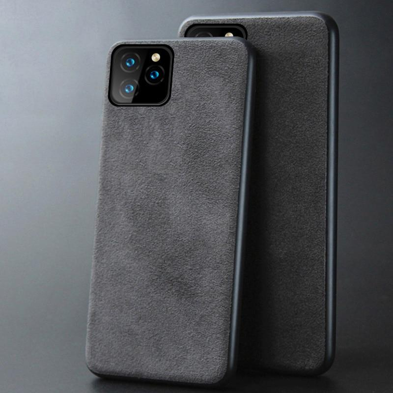 Genuine Cow Suede Leather Phone case for iPhone