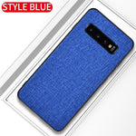 Luxury Fabric Soft Bumper Phone Case For Samsung