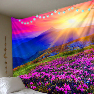 Mountainside Flowers Tapestry