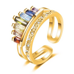 Adjustable Rainbow Crown Ring 【BUY 2 GET 1 FREE & FREE SHIPPING】